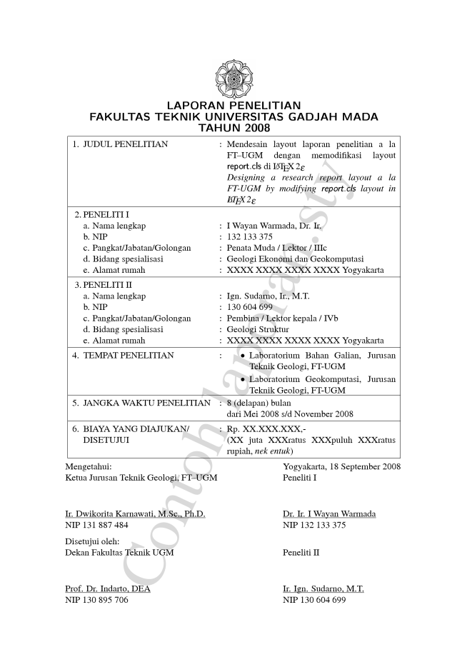 Paket Tambahan Laporan Sty Untuk Melayout Laporan Penelitian A La Ft