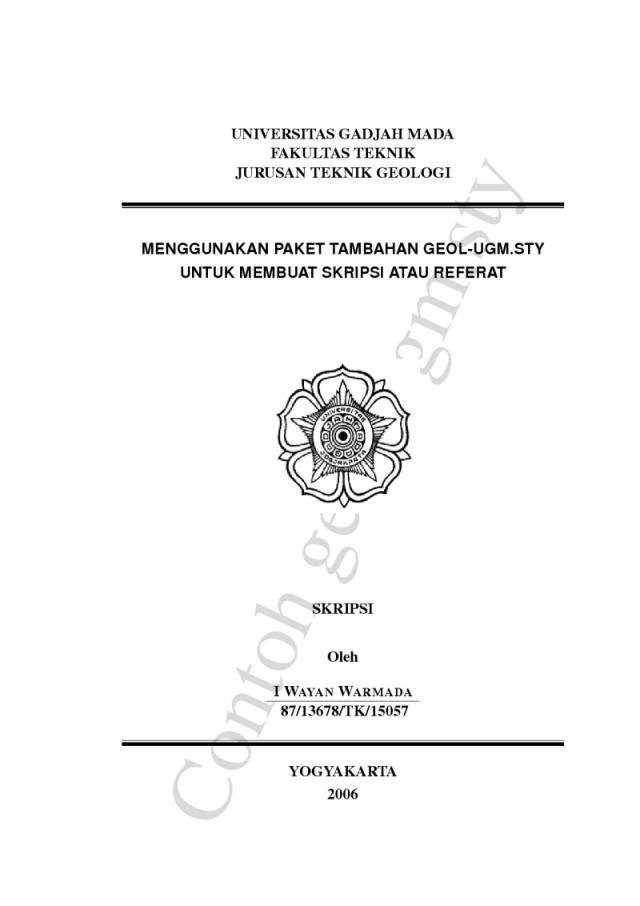 Contoh Skripsi Ugm Contoh Soal Dan Materi Pelajaran 8