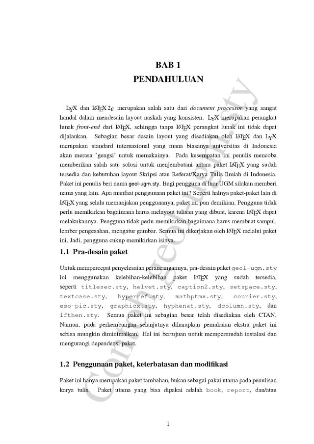 cara penulisan tesis bab 4 Tata cara penulisan skripsi bab pada bagian atas halaman tersebut referensi yang bersumber dari tesis atau disertasi perlu mencantumkan.